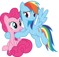 Pinkie and Dash by CloudyGlow