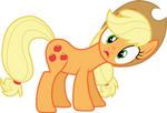 Applejack with tilted head