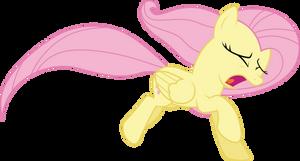 Fluttershy running away