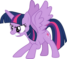 Angry Twilight Sparkle by CloudyGlow
