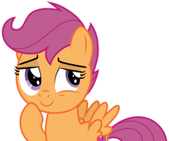 Scootaloo thinking by CloudyGlow