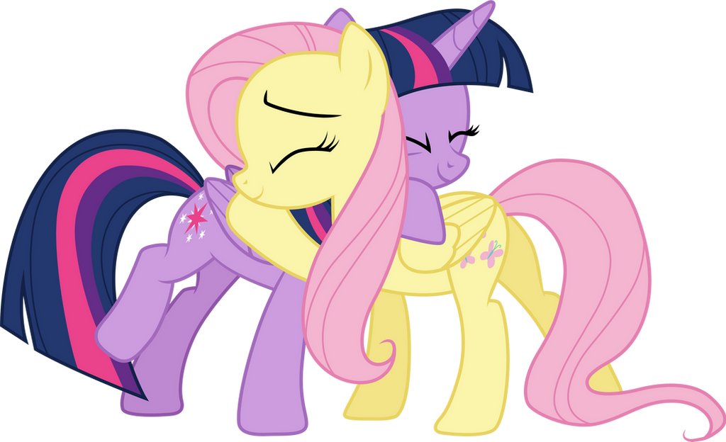 twilight_sparkle_and_fluttershy_hugging_