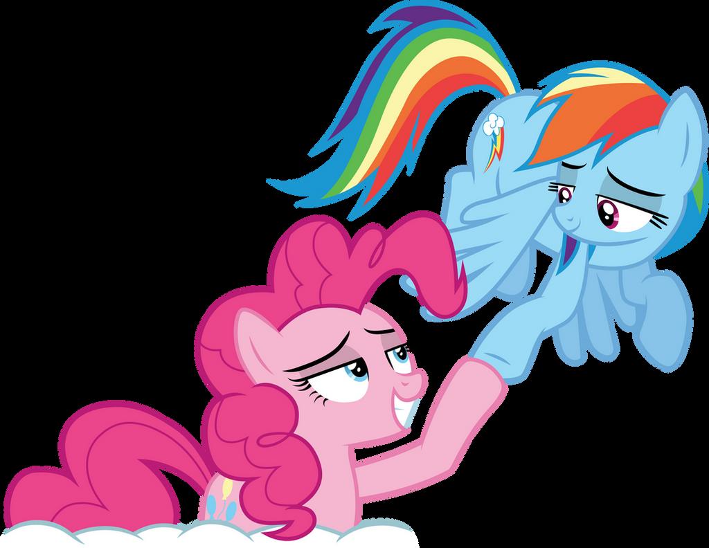 Pinkie Pie and Rainbow Dash by CloudyGlow on DeviantArt