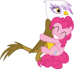 Pinkie Pie hugging Gilda
