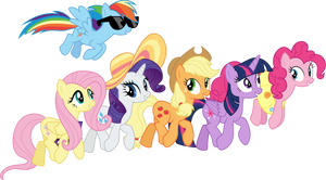 Mane 6 on a Friendship Retreat by CloudyGlow