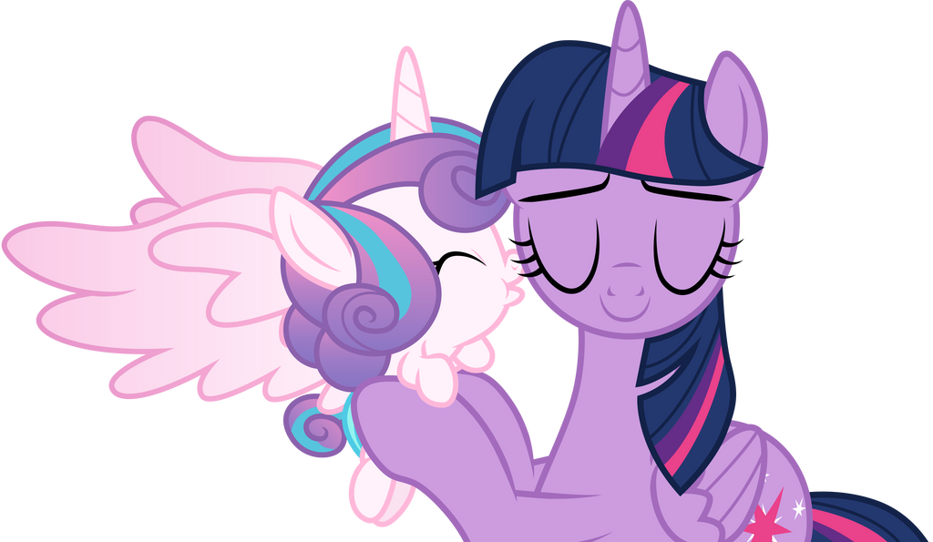 Flurry Heart kisses Aunt Twilight