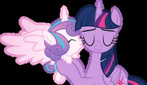 Flurry Heart kisses Aunt Twilight