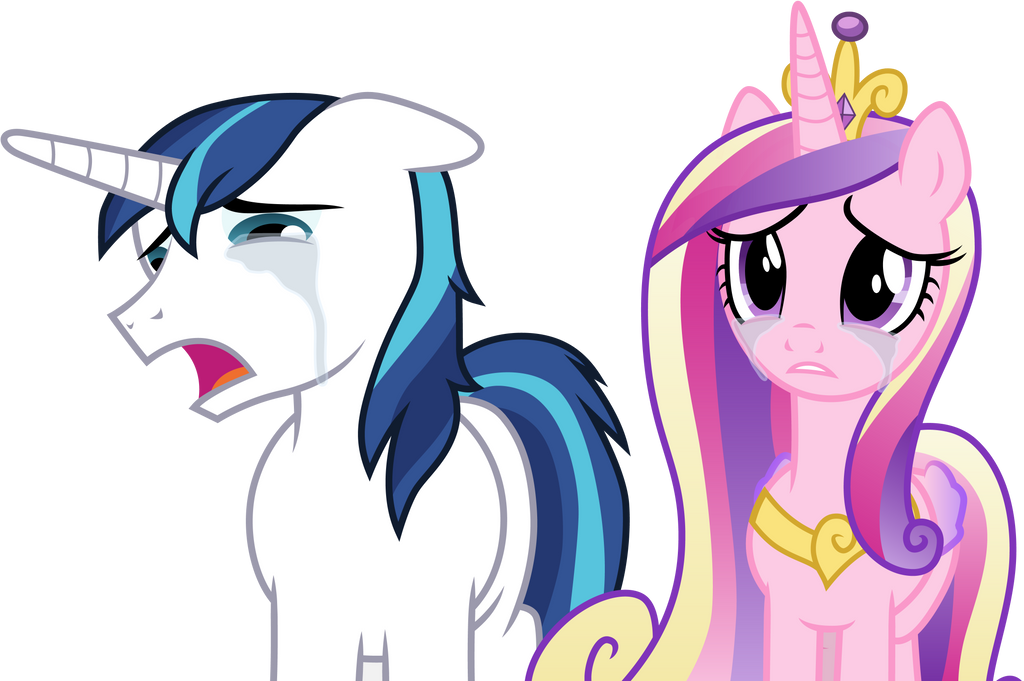 Crying Shining Armor and Princess Cadance by CloudyGlow on DeviantArt