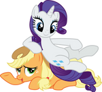 Rarity on Applejack