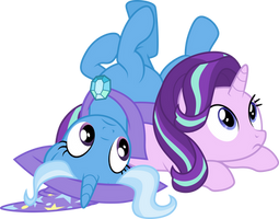 Trixie and Starlight Glimmer by CloudyGlow