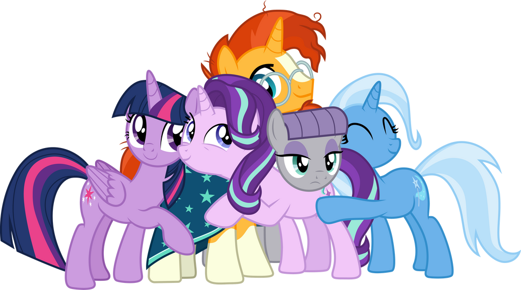 Starlight Glimmer and friends by CloudyGlow