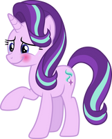 Starlight Glimmer blushing by CloudyGlow