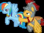 Rainbow Dash and Flash Magnus