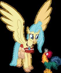 Princess Skystar as Moana by CloudyGlow