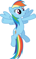 excited Rainbow Dash by CloudyGlow