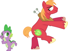 Spike and Big Mac dancing by CloudyGlow