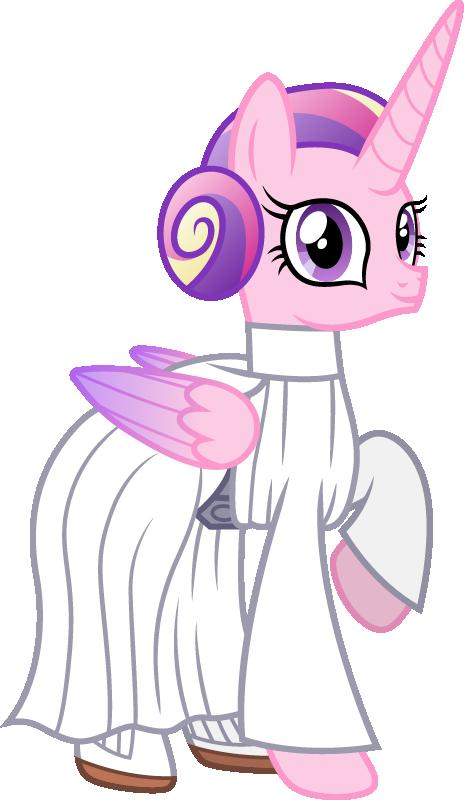 Princess Cadance as Princess Leia by CloudyGlow