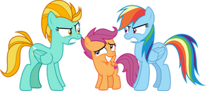 Lightning vs Rainbow with Scootaloo