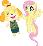 Fluttershy and Isabelle
