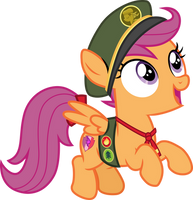 Filly Scout Scootaloo by CloudyGlow