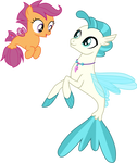 Scootaloo and Terramar under the sea