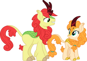Kirin Apple Parents by CloudyGlow
