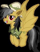 Daring Do bat pony by CloudyGlow