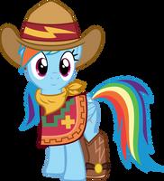 Cowgirl Rainbow Dash by CloudyGlow