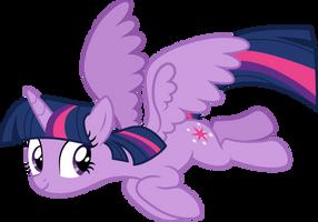 Twilight Sparkle flies by CloudyGlow