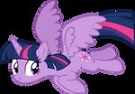 Twilight Sparkle flies