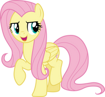 Determined Fluttershy by CloudyGlow