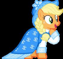 Hearths Warming Applejack by CloudyGlow