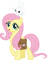Fluttershy and Angel by CloudyGlow