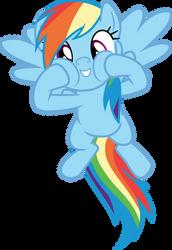 Rainbow Dash squishy cheeks by CloudyGlow