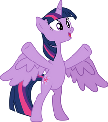 Bipedal Twilight Sparkle by CloudyGlow