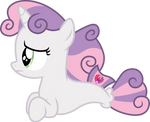 Worried Sweetie Belle seapony by CloudyGlow
