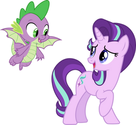 Spike and Starlight by CloudyGlow