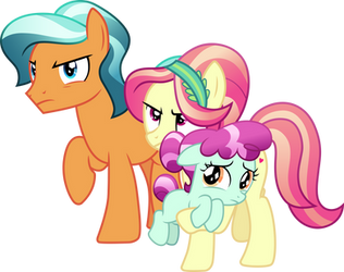Protective Pony Parents by CloudyGlow