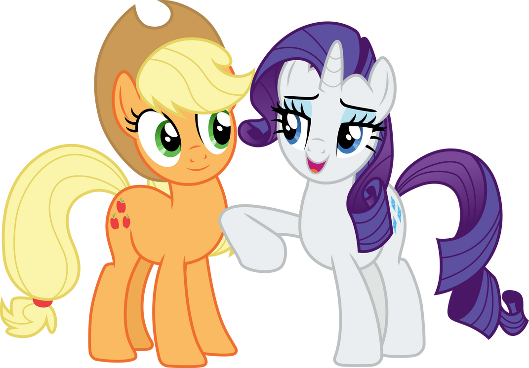 rarity_nudging_applejack_by_cloudyglow_dd6fry3-pre.png