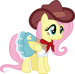 Cowgirl Fluttershy by CloudyGlow