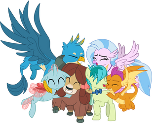 Young Six group hug by CloudyGlow