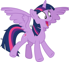 Excited Twilight Sparkle by CloudyGlow