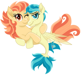 Holiday and Lofty seaponies by CloudyGlow