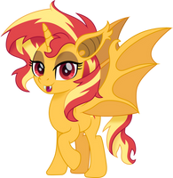 Sunset Shimmer bat pony