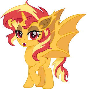 Sunset Shimmer bat pony