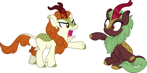 Autumn Blaze mad at Cinder Glow by CloudyGlow