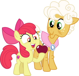 Apple Bloom and Goldie Delicious by CloudyGlow