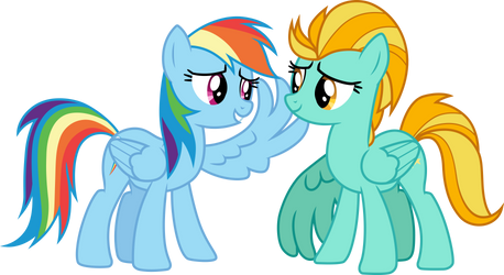 Rainbow and Lightning by CloudyGlow