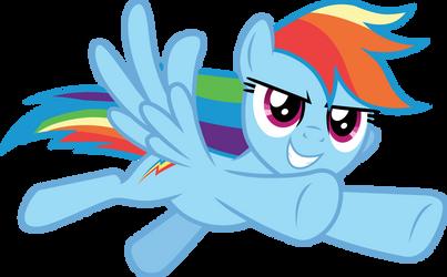 Rainbow Dash flying by CloudyGlow