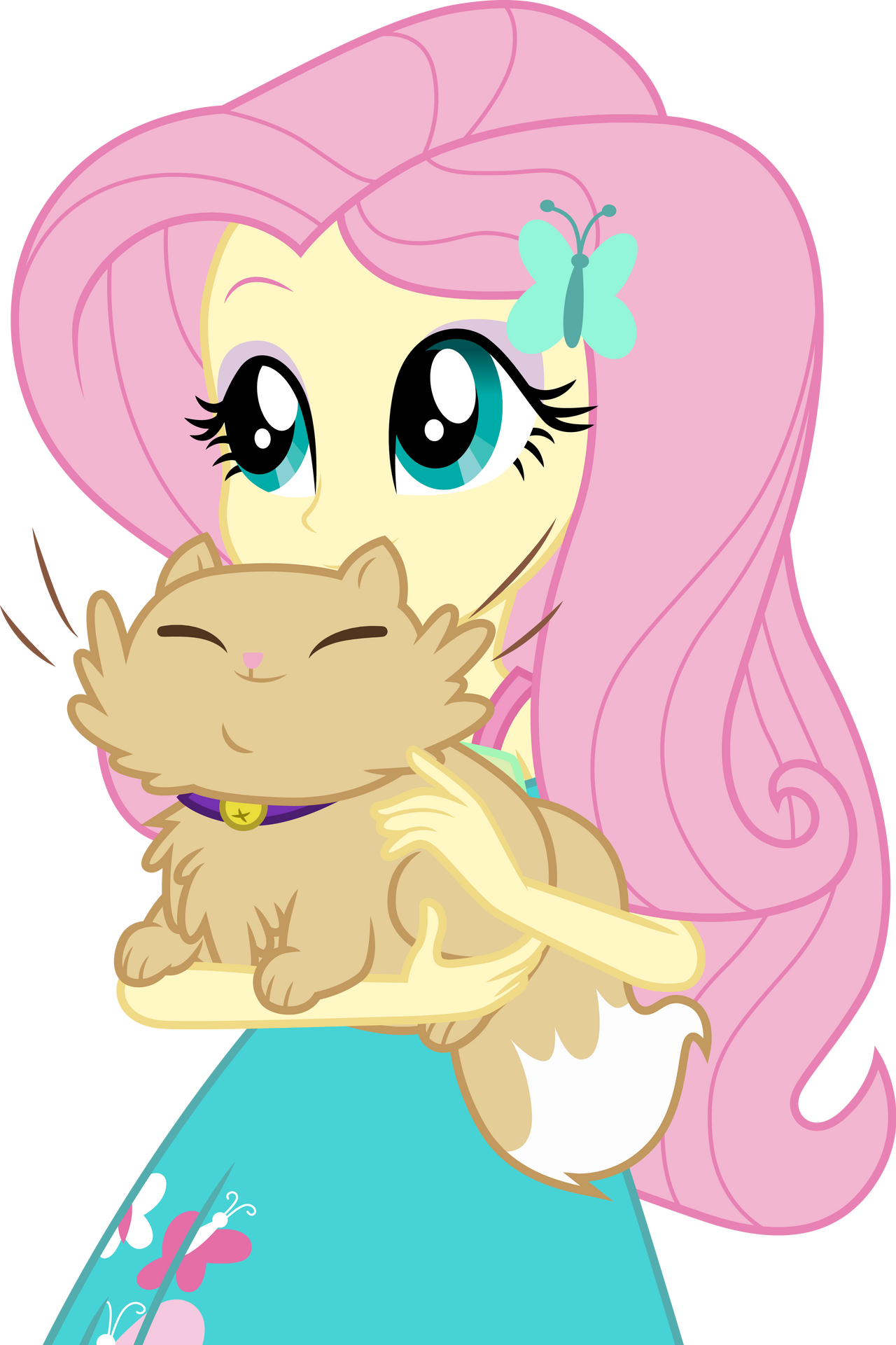 fluttershy_with_a_cat_by_cloudyglow_ddt1
